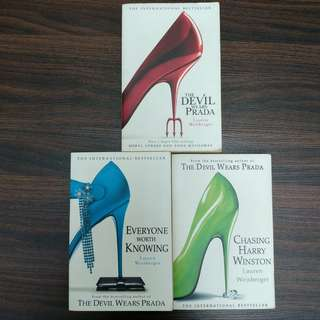 Lauren Weisberger 3 Book Collection Box Set (The Devil Wears Prada, Chasing Harry Winston, Everyone Worth Knowing)