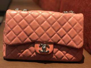 Authentic Chanel Classic Bag With Flap 00321 Pink