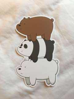 We Bare Bears Card (Suitable for Bookmark)