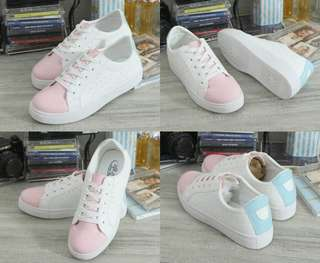 Danna white pink sneakers