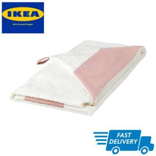 IKEA TILLGIVEN Baby towel with hood, white, pink FAST DELIVERY