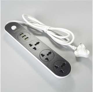LDNIO SC3301 US-European-European standard high-end USB plug socket strip with 3usb charger - International
