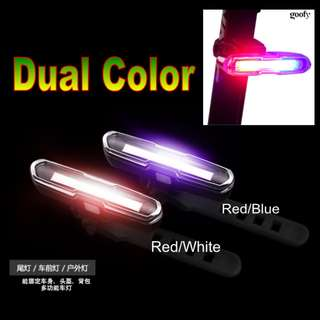 Goofy Dual Color USB Rechargeable Safety Light DT-7505 / Bicycle Lights / Scooter Lights