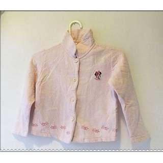 MICKEY KIDS 粉紅色 女童 小孩 兒童 小外套 尺寸:110cm  好搭配 隨便賣