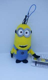 "Limited Edition 4.5"" Sega Universal Studios Despicable Me Minion Tim Doll Figurine Plush Stuffed Soft Toy Keychain Bag Charm"