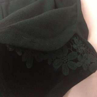 Black Lace Floral Shorts #20under