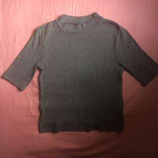 H&M Grey Ribbed Top #20under