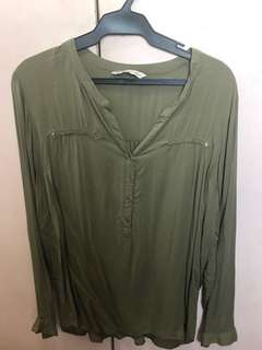 Sfera long sleeved relaxed blouse