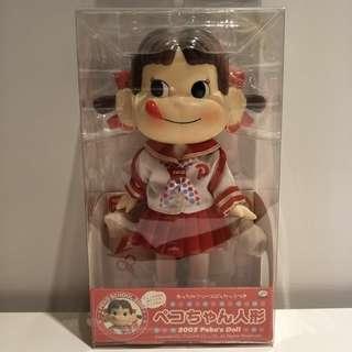 絕版稀有全新 2005  不二家 牛奶妹 Peko 水手服 換裝 娃娃