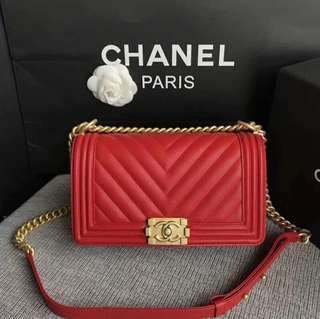 Chanel Chevron Le Boy 25cm