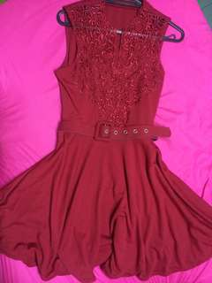 Party Semi Casual red Dress