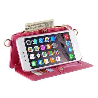 WB011 - iphone7 多功能二合一手机壳钱包可斜跨