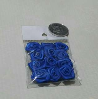 Crafting Pack of 12 Blue Roses