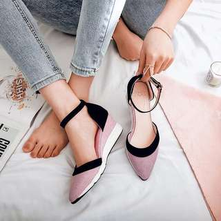 Ankles Strap Dual Tone Wedges