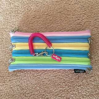 Smiggle Pencil Case and pink spiral key ring