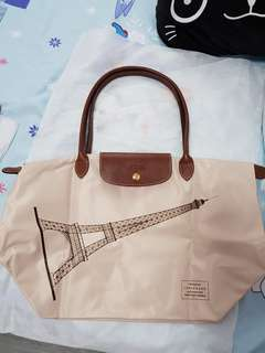 Long handle longchamp with Effiel Tower