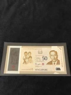 SG50 Commemorative $50 With Prefix 50AA
