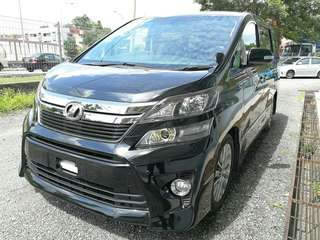 Toyota Vellfire 2.4 ZG Golden Eye Unregister