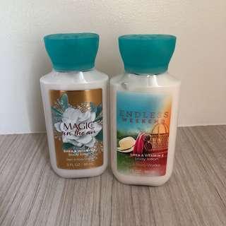 AUTHENTIC Bath&Body Works Travel sized lotion