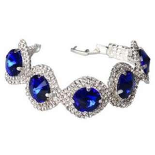 Five Stones Drilling Chain Bracelet Blue