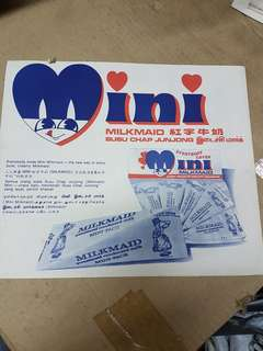 Mini Milkmaid advertisement 4 languages
