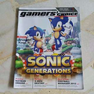 Sonic Generation Gamers Choice Magazine (Sonic 20th Anniversary)
