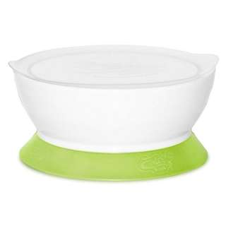 Calibowl Non-spill Bowl with Suction With Lid 12oz Baby Bowl