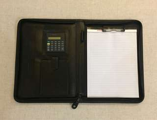 Black PVC Leather Folder - A4