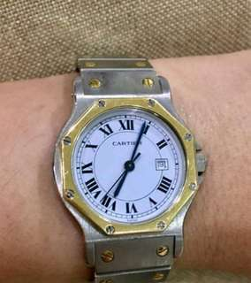 Authentic Cartier watch 18kgold/stainless steel