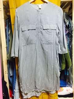 H&M條紋長洋裝