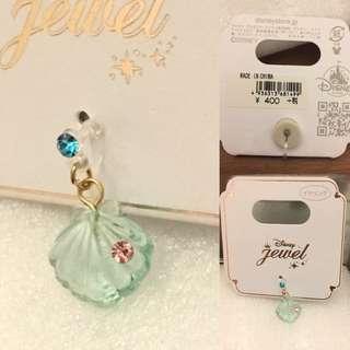 日本Disney store🆕美人魚閃石耳環 princess Ariel earrings