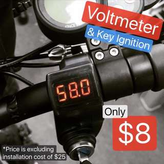 Voltmeter and Key Ignition