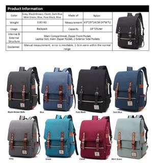 Korean Style Trendy Unisex Backpack