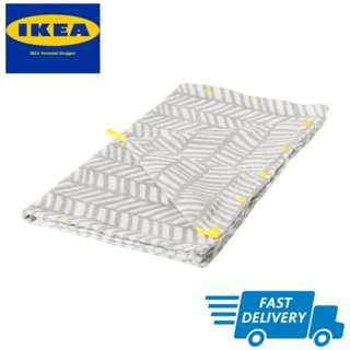 IKEA KLÄMMIG Towel with hood, grey, yellow FAST DELIVERY