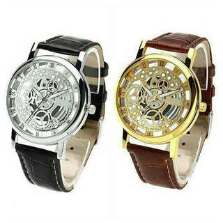 Automatic Hollow Mechanical Watch Leather Business Watch