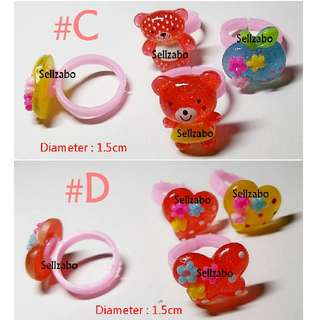 10 Pcs Cute Ring Kids Girls Children Toys Accessories Sellzabo Xmas Christmas Party