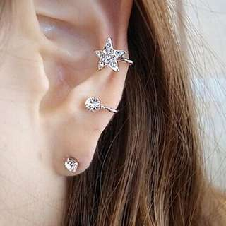 1pc ear clip & ear stud