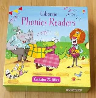 Usborne Phonics Reader Books Set of 20 with box