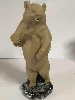 石湾素胎狗熊 Shi Wan China Bear Ornament