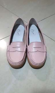 Light Pink Leather Loafers