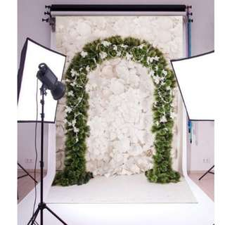 Wedding Arch Photobooth Printed Vinyl Backdrop