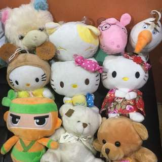 10 pcs. Stuffed toys bundle