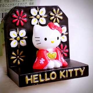Hello Kitty 空運直送 2002年 陶瓷 公仔擺設 兼 坐枱鏡 鏡仔 274170