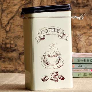 COFFEE TIN CANISTER #under20