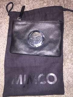 Mimco mini pouch black