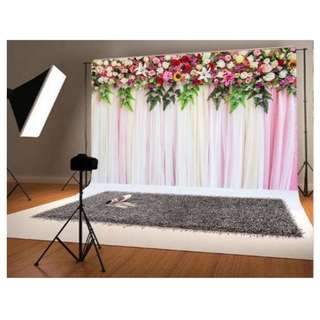 Colourful Florals Printed Vinyl Photobooth Backdrop