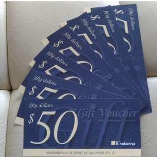 Kinokuniya book voucher S$350