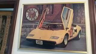 Lamborghini Countach picture clock