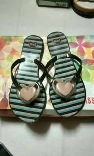 Melissa Stripe Heart Slipper