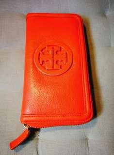 Repriced - Tory Burch Amanda Continental Zip Wallet (Orange)